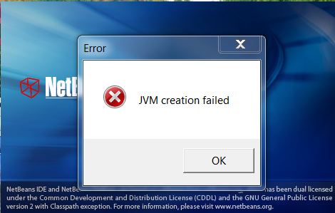 netbeans_errore_jvm_creation_failed